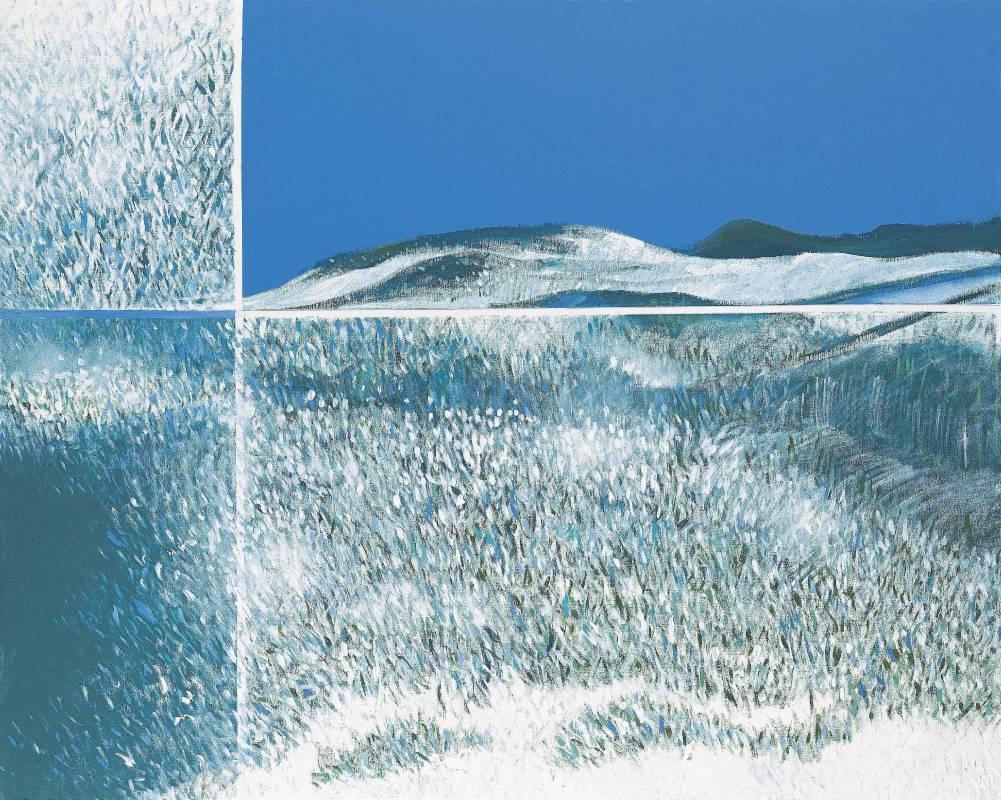 王陳靜文 天地有情 130x162cm 壓克力 2002年 墨海樓國際藝術研究機構提供