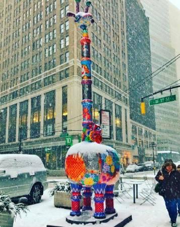「長景祿」裝置在百老匯街與40街路口
