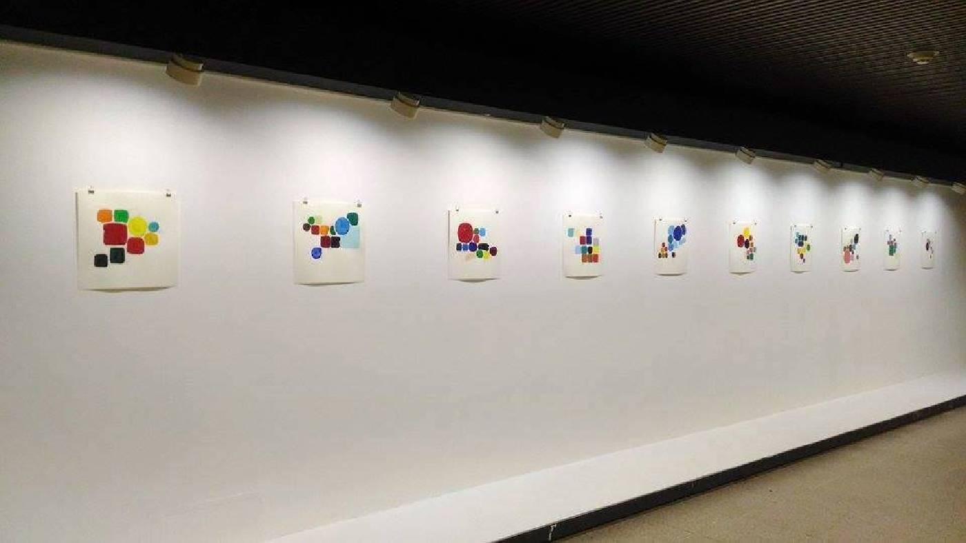 鰐渕 未来 Miki Wanibuchi 《高雄系列2016 - 色彩筆記》 2016 20x20cm  壓克力 紙本 手繪稿紀錄著高雄特有的色彩