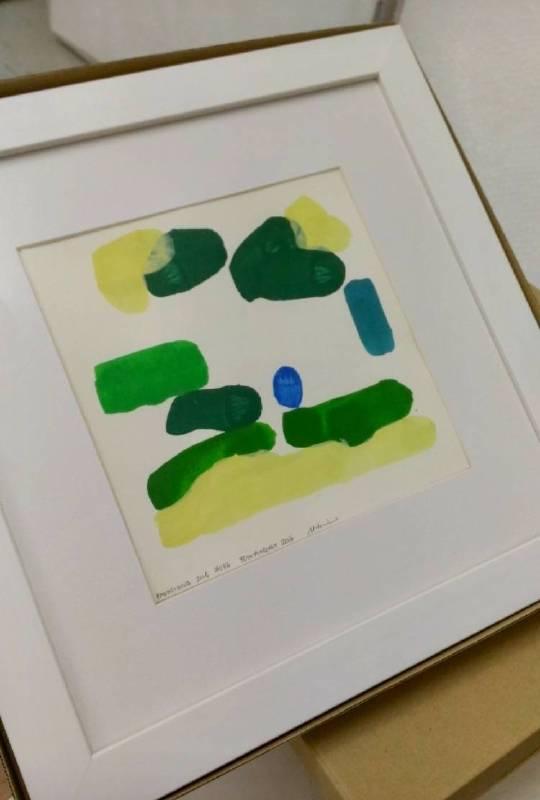 鰐渕 未来 Miki Wanibuchi  《高雄#36》 2016 20 x 20 cm (含框35 x 35 cm) 壓克力 紙本