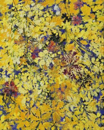 周錫瑋 《黃花遍開》 2015  162×130 cm