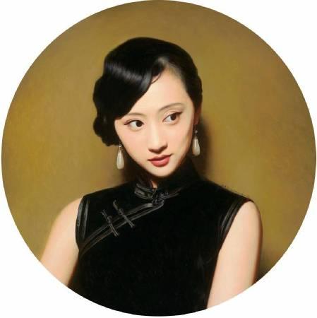 《大民國-新月清暈》 直徑(Diameter) 100cm   2016  Oil on Canvas