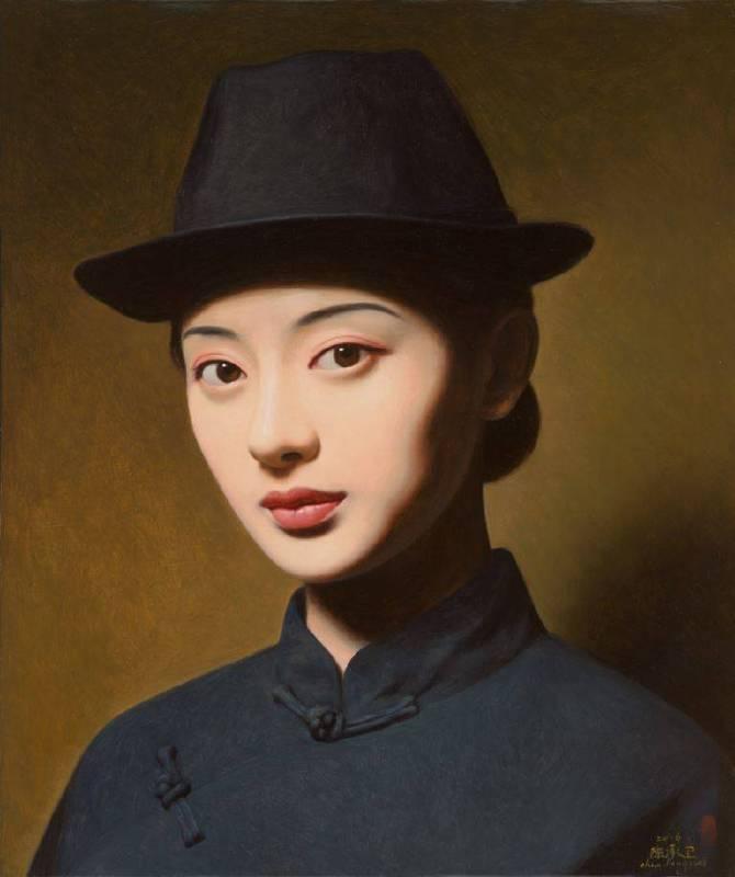《大民國-翠黛》  50X60CM   2016   Oil on Canvas