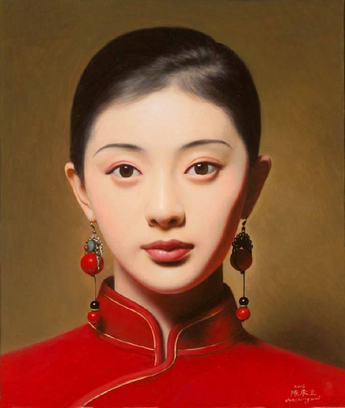 《大民國-海棠紅》  50X60CM   2016 Oil on Canvas