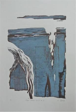 李淑娟ShuChuan_Lee-Chopin 練習曲作品 10 ... 2_55× 77cm_凸版 Relief_2016