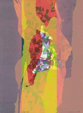 鐘有輝Se-Hui_Chung-喜悅能量 Joyful Energy_76x56.5cm_併用版Combinedmethods_2014年
