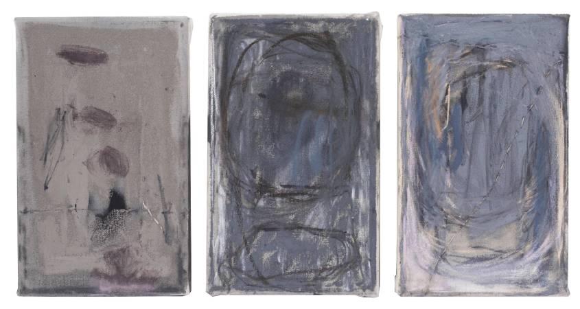 里尔克的灰I,综合材料及缝补,25x15cm/each,2016