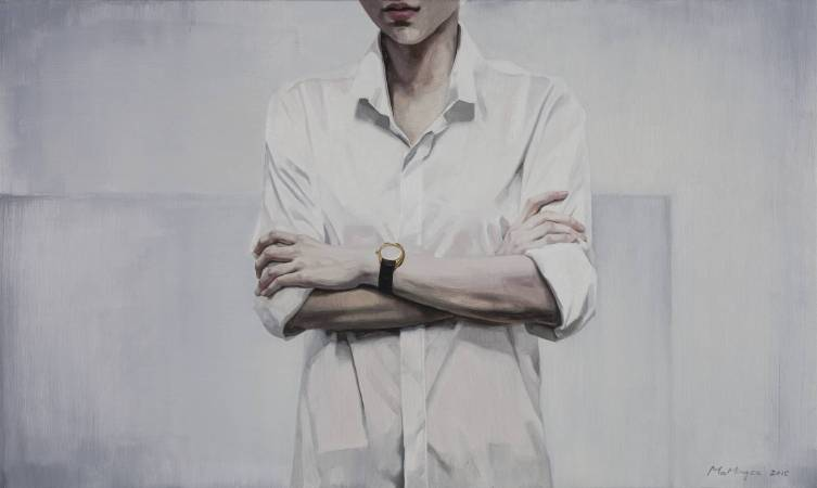 不看手錶的人 60 x 100cm 布面油畫 Oil on Canvas