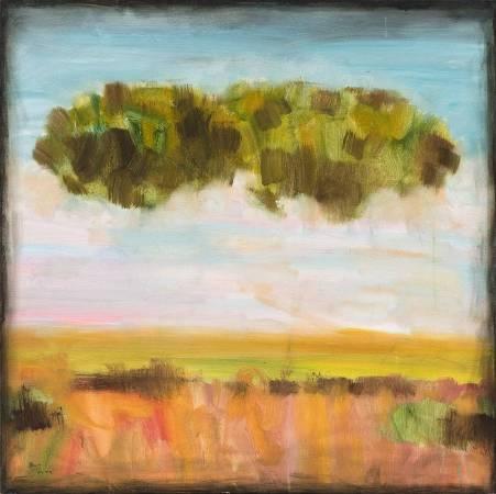 翁明哲 逃跑的樹 120x120 cm 油彩畫布 2008