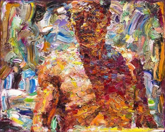 翁明哲 父親的胸膛 72.5x91 cm 油彩畫布 2016