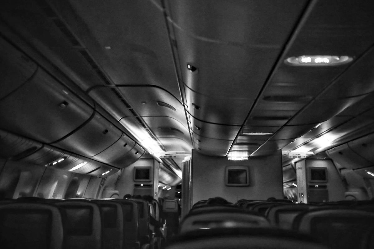 艙壓 / 葉展昀 / 攝於 2017年 36000英尺高空上 / 50x33cm