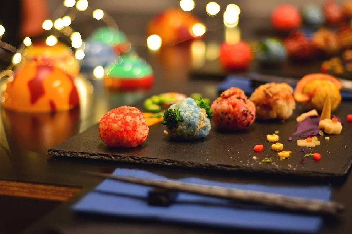 五顆星球飯糰分別象徵不同的星球特徵與個體性