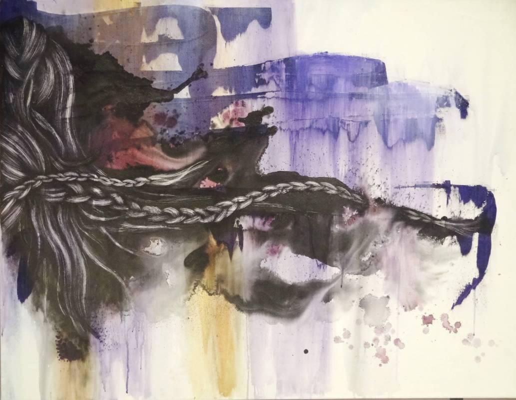 林雅涵  絲密 - 感性與理性VII 水墨 2010 116 x 59 cm