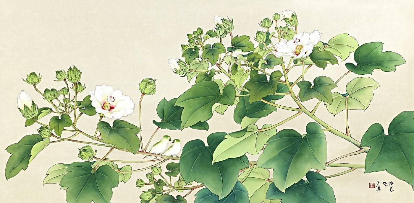陳士侯 《山芙蓉(無私的能量)》 2013  105×45 cm