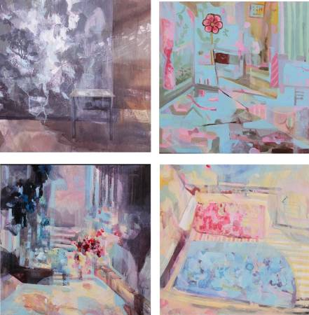 游婷鈞,窺,L50xW50cm(4聯幅),壓克力顏料,畫布,2014