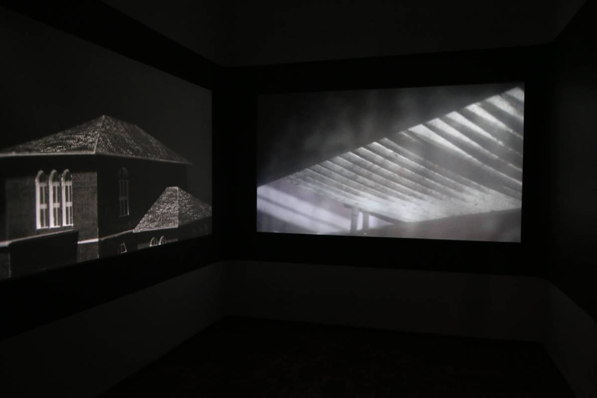 陳哲偉,《遺忘記事》,雙頻道錄像,2016。