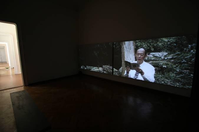 蘇匯宇,《超級禁忌》雙頻道錄像,2015。