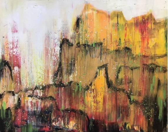 金黃之光 91.5x116cm (50F) 油畫