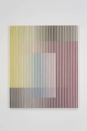 于洋 Yu Yang - 水墨物體-三原色 No.1 Ink Object - Three Primary Colors No.1 120×98 cm 紙本水墨、木 Ink on Paper, Wood 2017