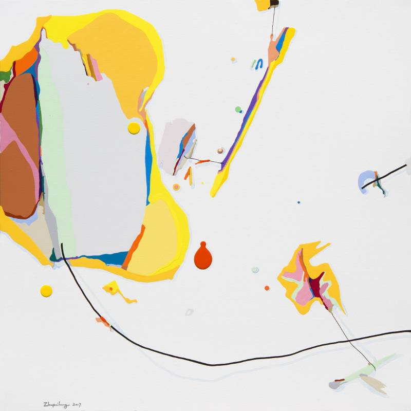 朱佩鴻 Zhu Pei Hong - 我的空間 2017-2 80×80 cm 布面壓克力 Acrylic on Canvas 2017