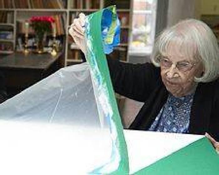 堅持不懈 101歲人瑞首場紐約個展