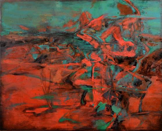 周宸Chou Chen,無形Imperceptible,油畫Oil on canvas,80x100 cm 40F,2017