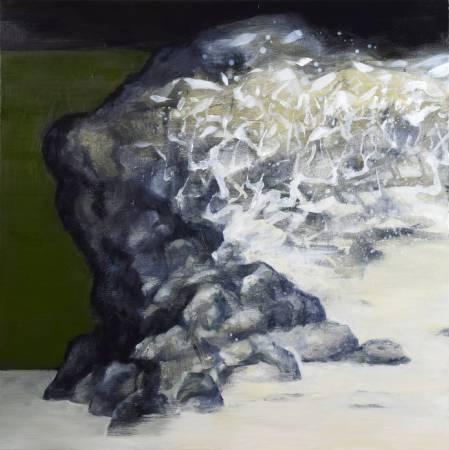 周宸Chou Chen,靜觀Mindfulness,油畫Oil on canvan,89x89 cm 40S,2017