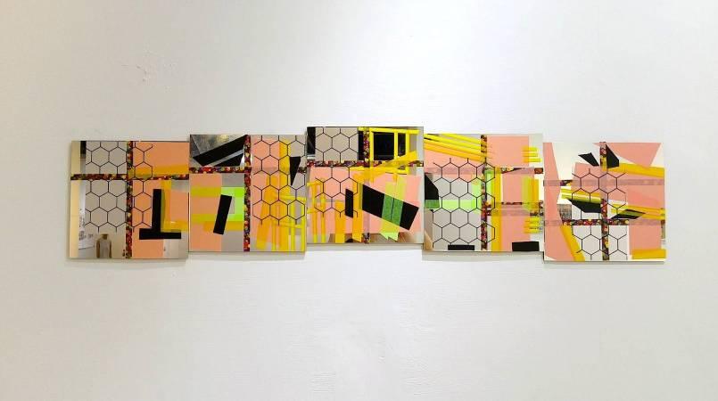 吳芊頤《七條通窗景詩》,2017,和紙PE、鏡面壓克力板,19 x 19 cm x 5