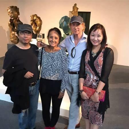 黃心健於8月底參觀威尼斯雙年展  聖馬利諾國家館 《有無之際─李光裕大型個展》