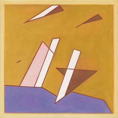 霍剛, 抽象 2017-2, 100x100cm, 2017, Oil on Canvas
