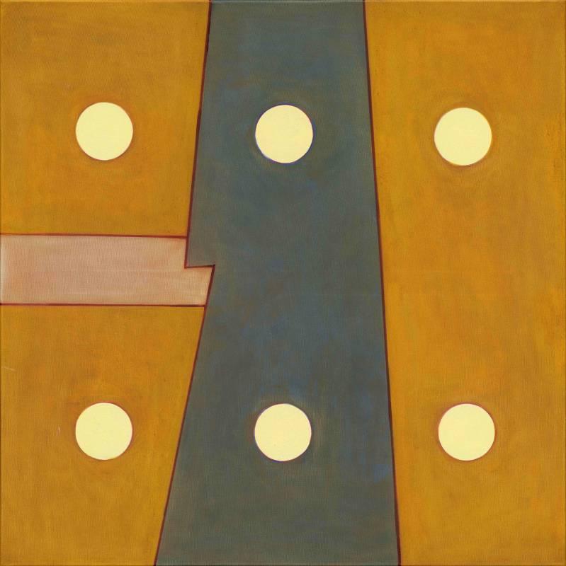 霍剛, 抽象 2017-4,100x100cm, 2017, Oil on Canvas(1)
