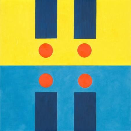 霍剛  承合之3--200x100cm(x2)-油彩、畫布 2011