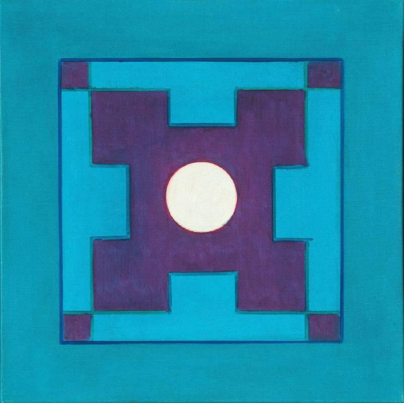 霍剛  承合之6--50x50cm-油彩、畫布 2012