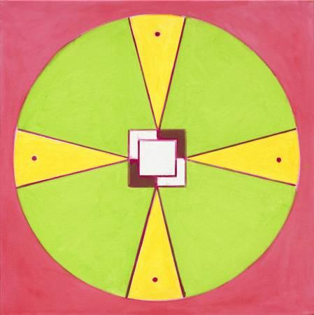 霍剛  抽象2015-054 100x100cm 油彩、畫布 2015