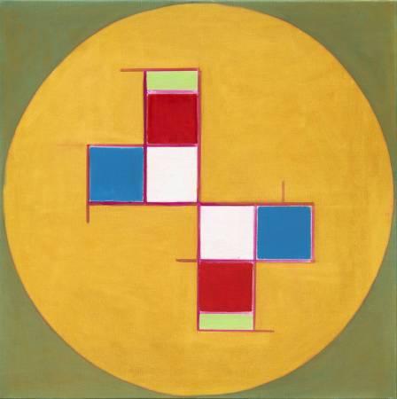 霍剛  抽象2015-058 100x100cm 油彩、畫布 2015
