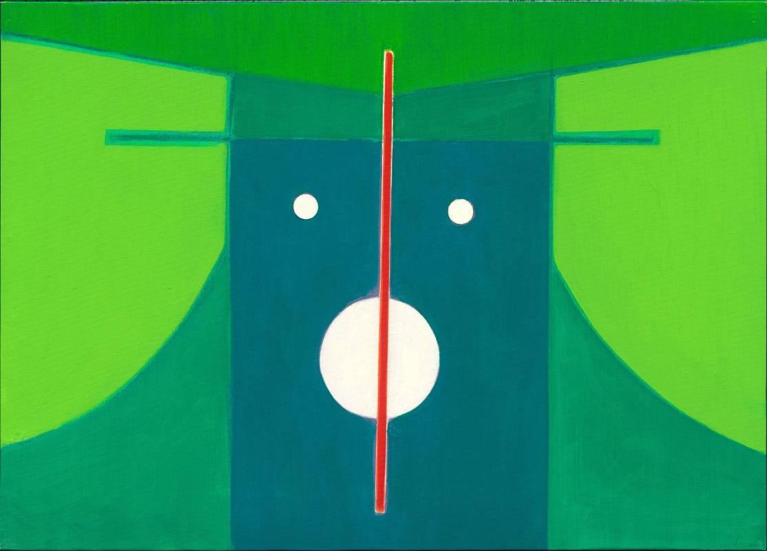 霍剛  抽象2013-005  70x50cm 油彩、畫布 2013