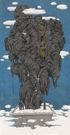 鄧卜君-黃金傳說-66x126cm--紙上水墨-2016