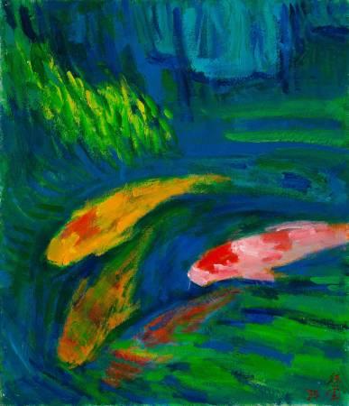 游鯉, 1995, 10F, 油彩畫布