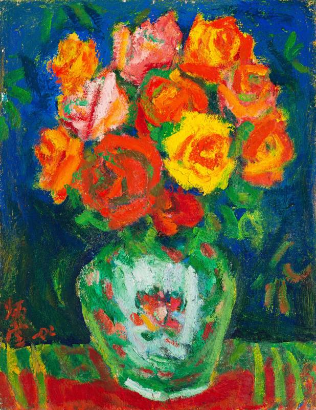 玫瑰, 2002, 6F, 油彩畫布