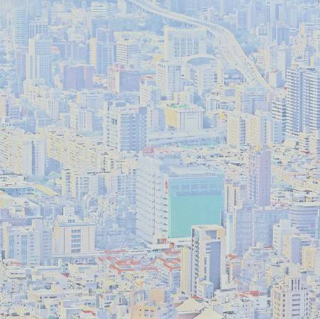 韓湘寧_台北鳥瞰圖-7_80 x 80 cm _微噴於畫布_2017