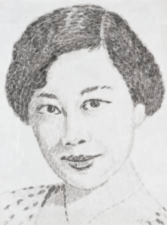 韓湘寧_60青年系列-台北人-6_102 x 76 cm_墨點於紙上_2006