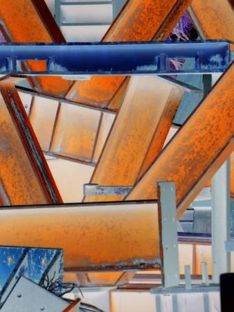 卡佑民 Kayoumin・在幾何中迷失-塗鴉 Lost in Geometry -Fity・96 x 129 cm・畫布多媒體・2016