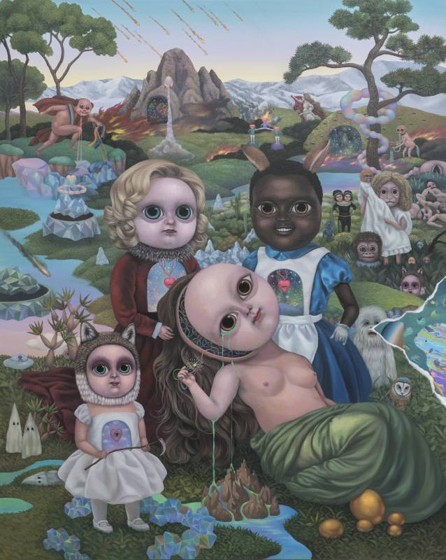 張嘉穎 CHANG Chia-Ying, 賽博格的眼淚 Tears of Cyborg, 2017, 壓克力、畫布 Acrylic on canvas, 162x120cm