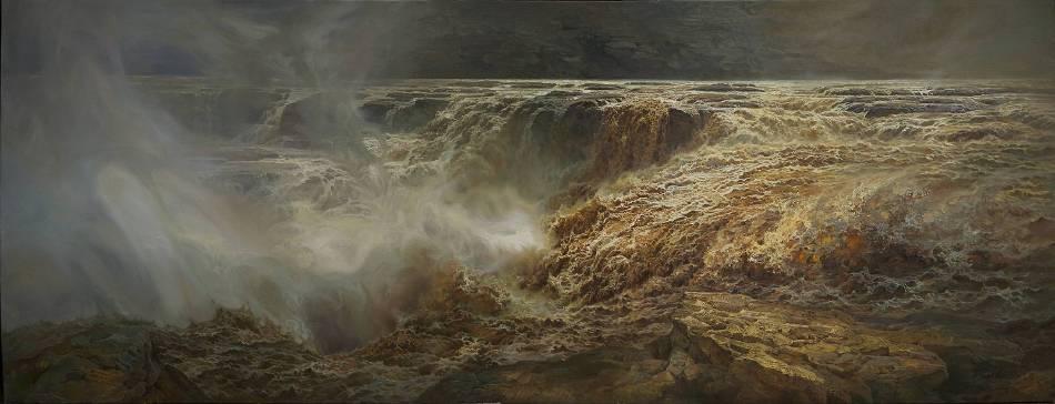 百谷之王,101×240CM,布面油畫,2017