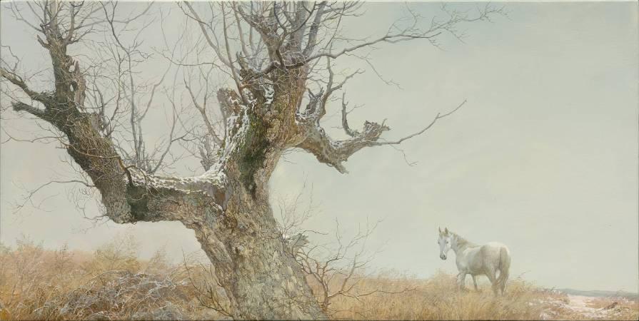 回眸,30x60CM,木板油畫,2017
