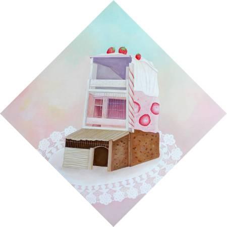 蛋糕>> 《假想甜蜜2》,2015,壓克力畫布,50x50cm
