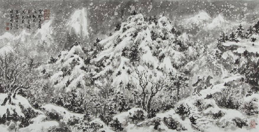《雲橫秦嶺》 傅益瑤畫雪,從不敷粉