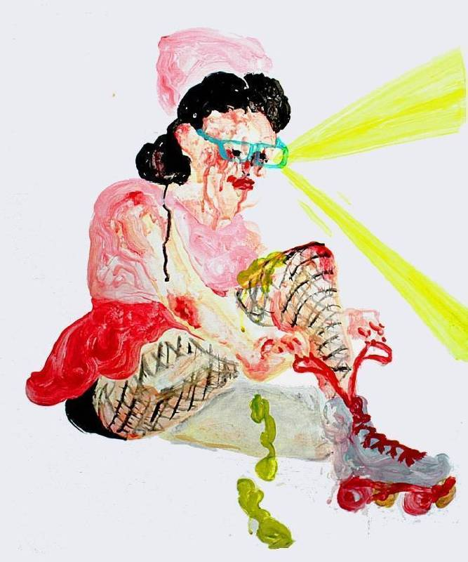 溫佳寧《扮裝皇后》,2015,壓克力顏料、木板,53 x 65 cm