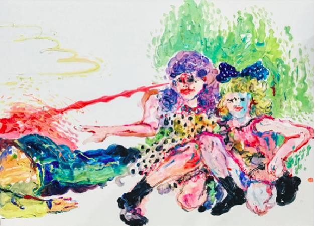 溫佳寧《猛鬼愛情故事》,2016,壓克力顏料、畫布, 91 x 72.5 cm