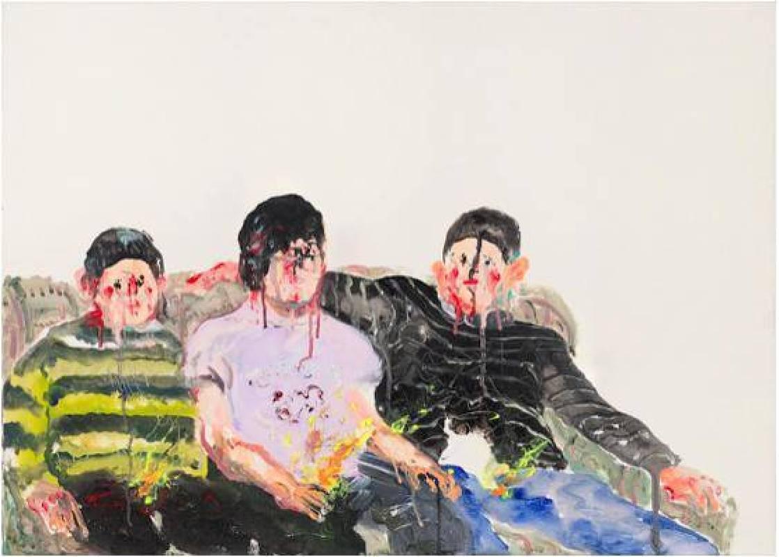 溫佳寧《打火兄弟》,2016,壓克力顏料、畫布, 100 x 80 cm